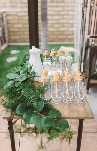 Ombre Orange Brunch Bridal Shower