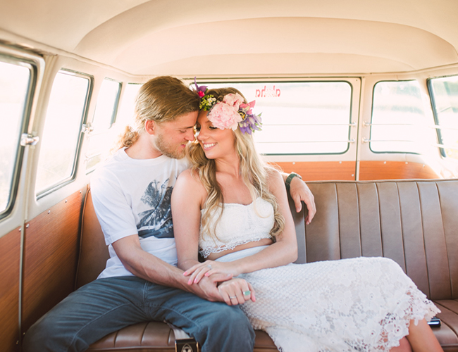 60's Inspired Engagement Photos