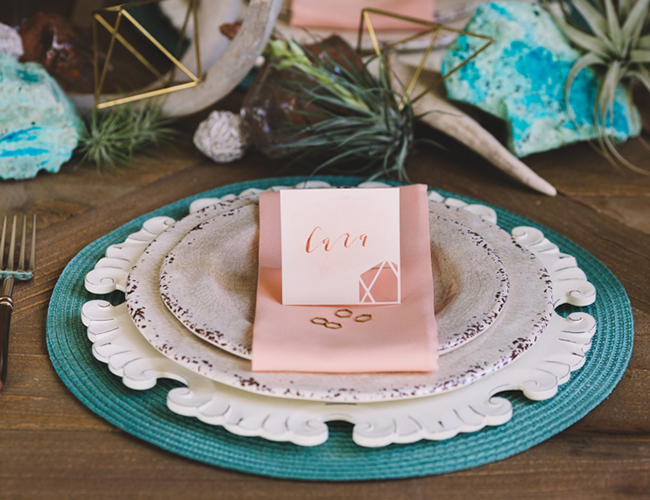 Pink and Turquoise Desert Wedding Inspiration