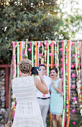 Neon DIY Wedding