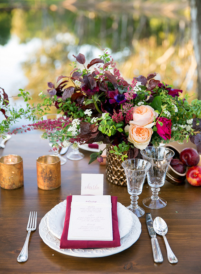 Berry Colored Wine Country Wedding