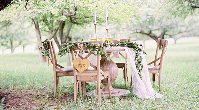 Apple Orchard Blush and Gold Wedding Inspiration