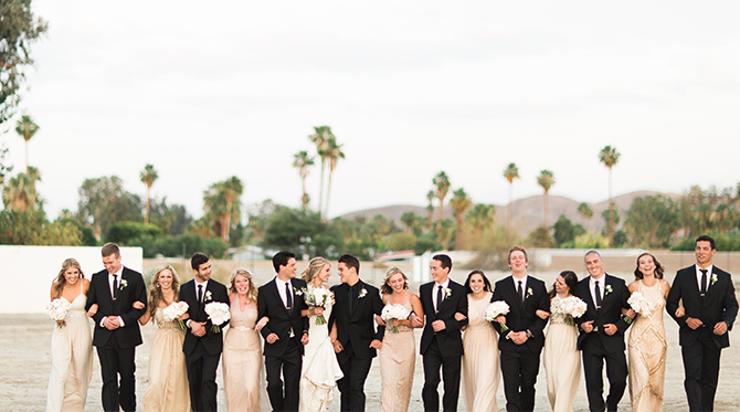 Ivory and Blush Palm Springs Wedding