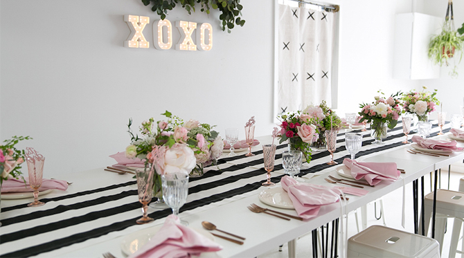 Pink Black And White Baby Shower Decorations Sistem As Corpecol