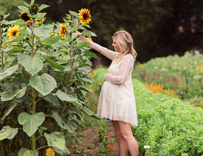A Florist's Greenhouse Maternity Photos - Inspired By This