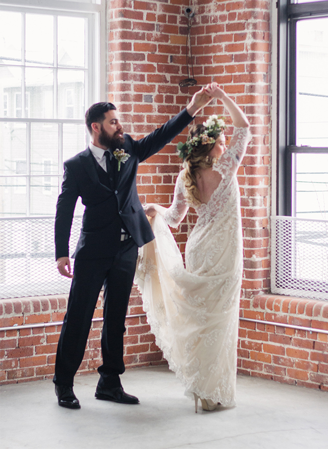 Romantic Industrial Wedding Inspiration