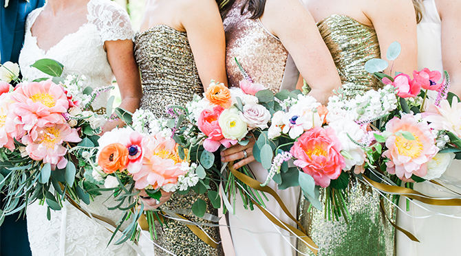 Navy and Pink Wedding - Inspired By This
