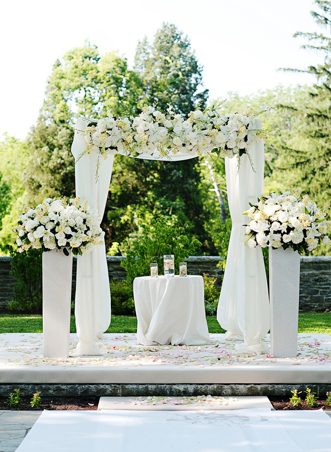 16 all white wedding ideas inspired by this for All white wedding theme pictures