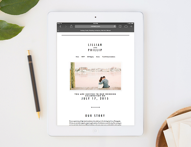 Minted Wedding Website.Create Your Wedding Website With Minted Inspired By This