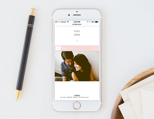 Create Your Wedding Website with Minted