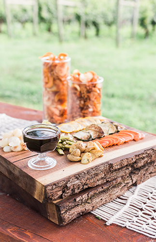 Burnt Orange & Berry Vineyard Wedding - Inspired By This
