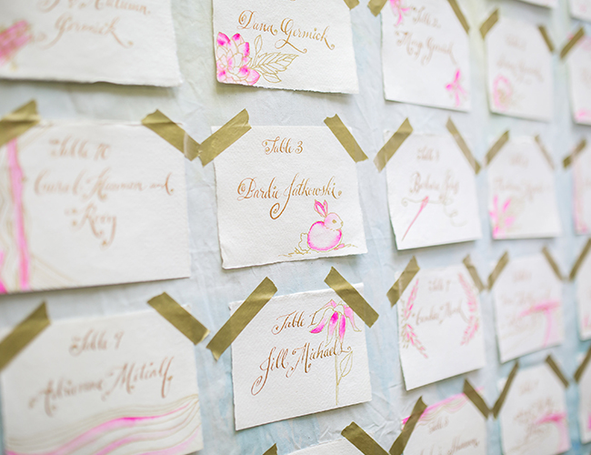 Bright Pink Rose Gold Baby Shower Inspired By This