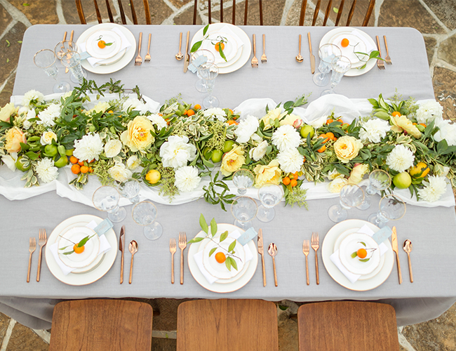 Pale Blue & Citrus Vineyard Wedding - Inspired by This