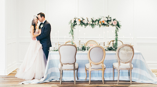 Romantic Gold & Peach Wedding - Inspired by This