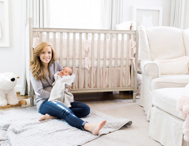 Blush and Grey Nursery - Inspired by This