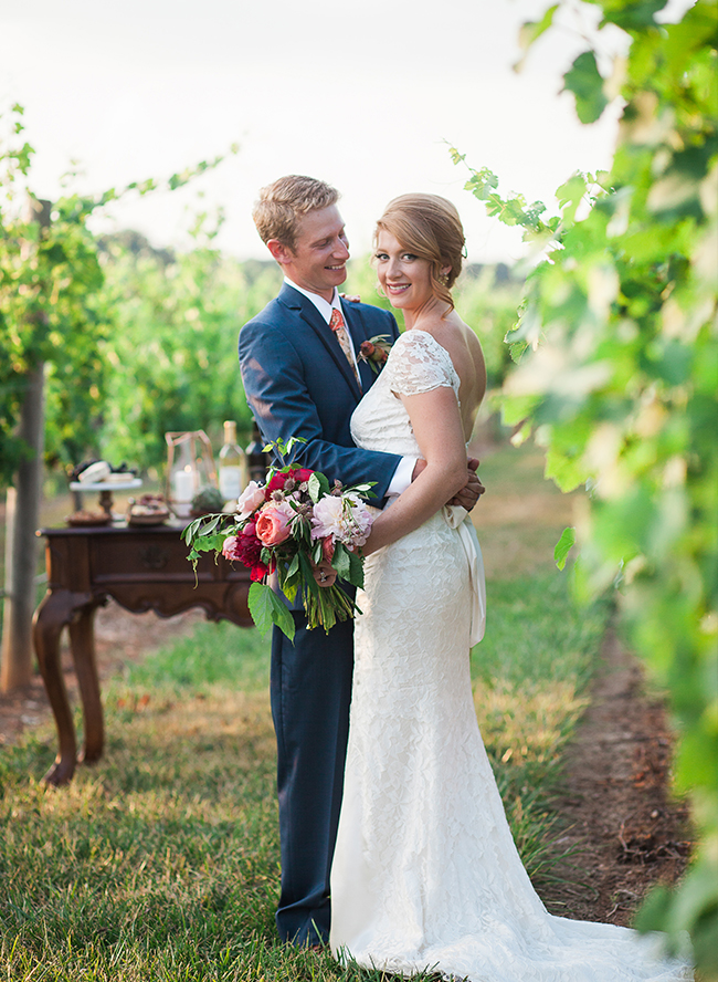 Berry & Blue Fall Vineyard Wedding - Inspired by This