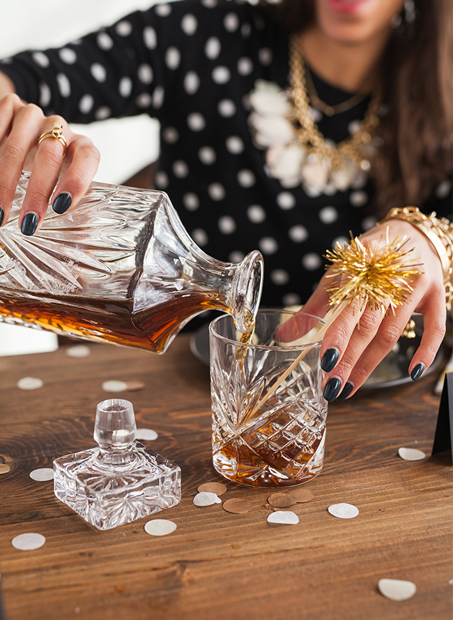 Throw this Metallic Cocktail Party at Home - Inspired by This