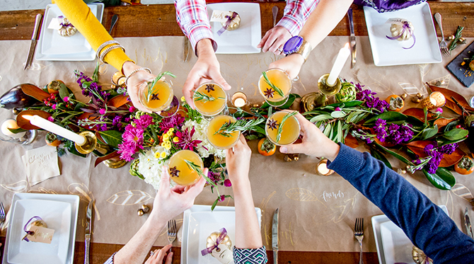 Chic & Colorful Friendsgiving - Inspired by This