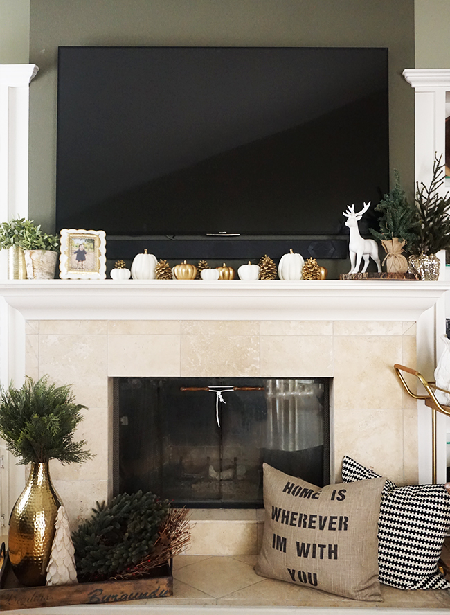 How To Decorate A Brown Living Room: How To Decorate Your Mantel For The Holidays