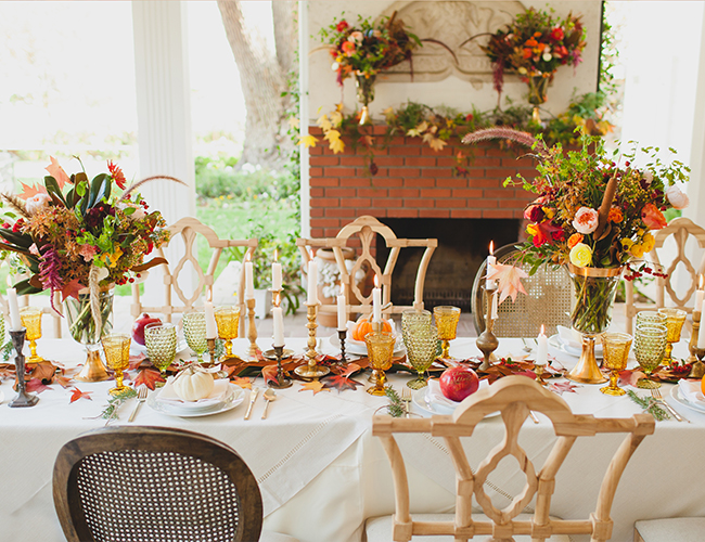 Orange & Cranberry Thanksgiving Table - Inspired by This