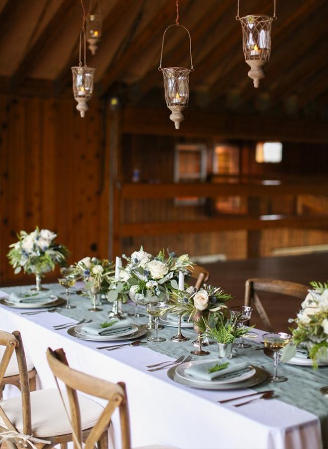 Elegant Blue & White Winter Wedding - Inspired by This