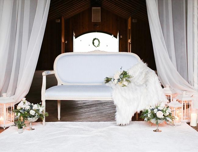 Elegant White & Blue Winter Wedding - Inspired by This