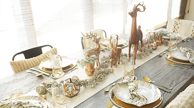 Copper & Gold Holiday Party - Inspired by This