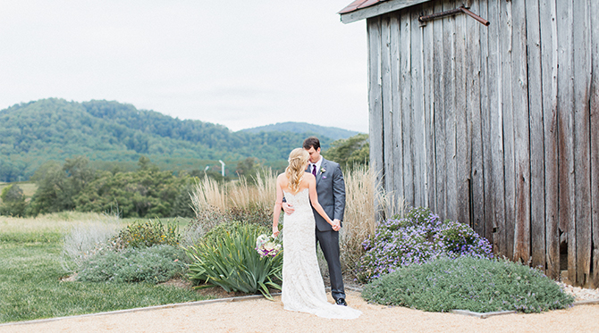 Gorgeous Purple Vineyard Wedding - Inspired by This