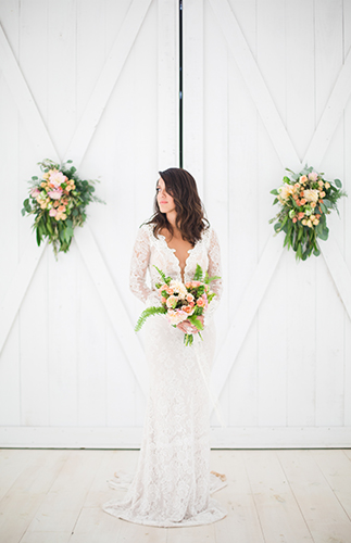 Coral & Emerald Barn Wedding - Inspired by This