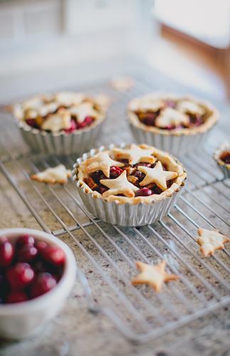 Mini Gluten Free Cranberry Christmas Pie Recipe Inspired