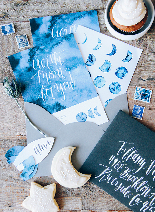 Moon Themed Indigo Baby Shower Inspired By This