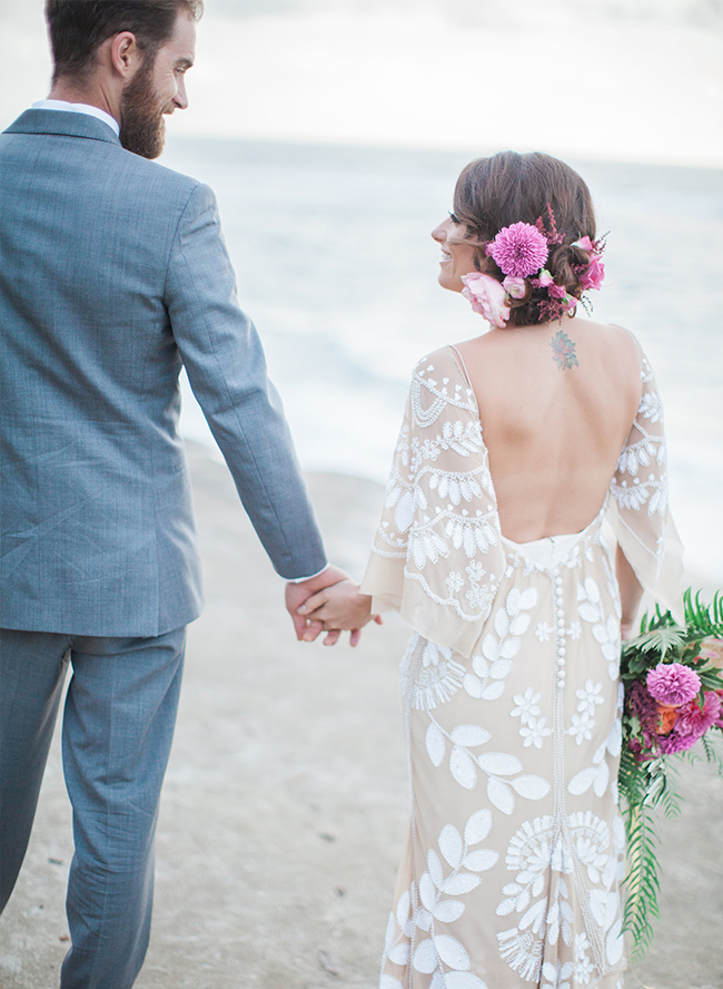 Fuschia Beach Engagement - Inspired by This