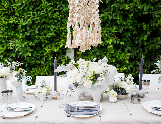 All White Macrame Baby Shower Inspired By This