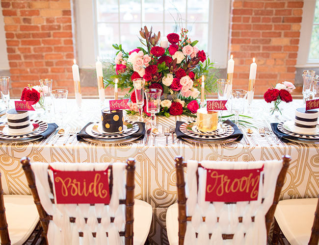 Romantic Red Wedding Inspiration - Inspired by This