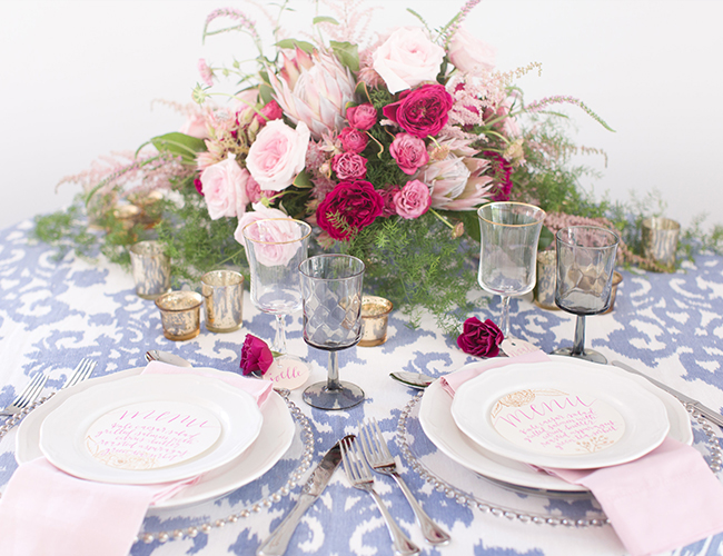 Navy and Pink Inspiration Shoot Elopement - Inspired by This