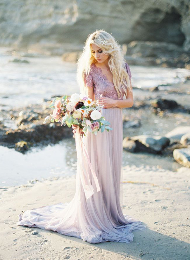 7 alternative wedding dress colors inspired by this junglespirit Choice Image