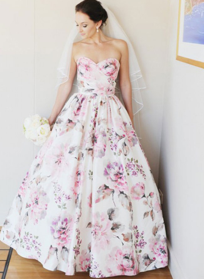 Wedding Dresses With Color.7 Alternative Wedding Dress Colors Inspired By This