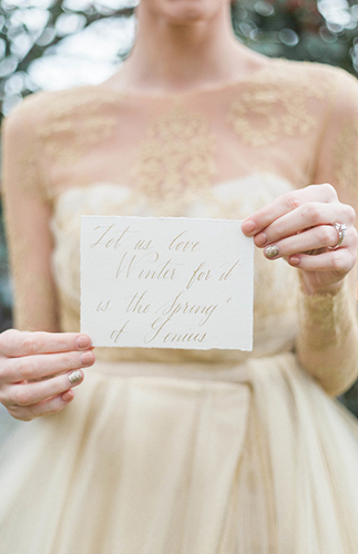 Romantic Gold Winter Wedding - Inspired by This