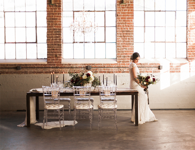 Urban Red Wedding Inspiration - Inspired by This