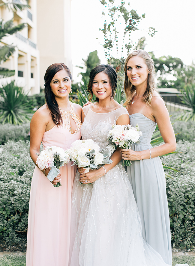 Pastel Four Seasons Maui Wedding