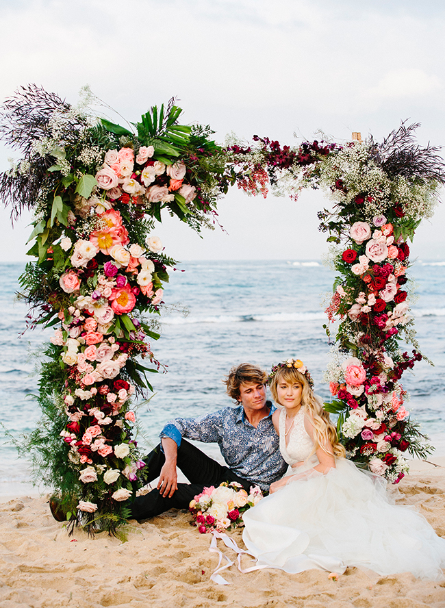 Romantic Pink Hawaii Beach Elopement - Inspired by This