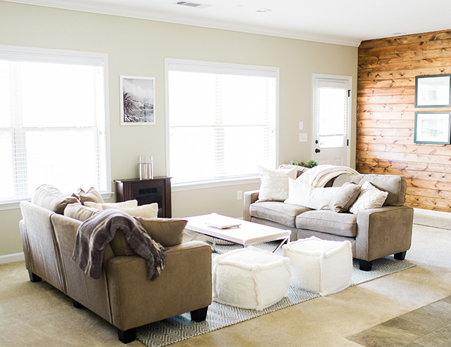An Earth Tone Living Room Makeover - Inspired By This