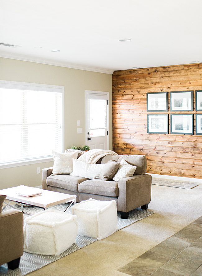 an earth tone living room makeover inspired by this