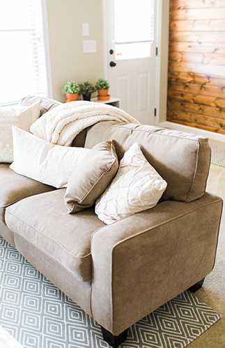 earth tone living room.  Earth Toned Living Area Bar Makeover Inspired by An Tone Room By This