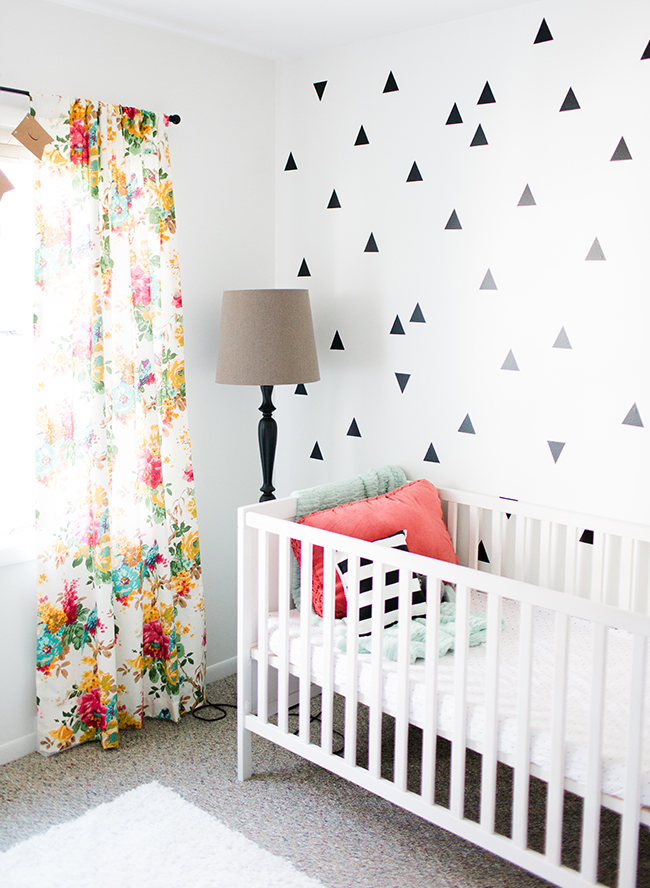 black white coral baby girl nursery inspired by this. Black Bedroom Furniture Sets. Home Design Ideas