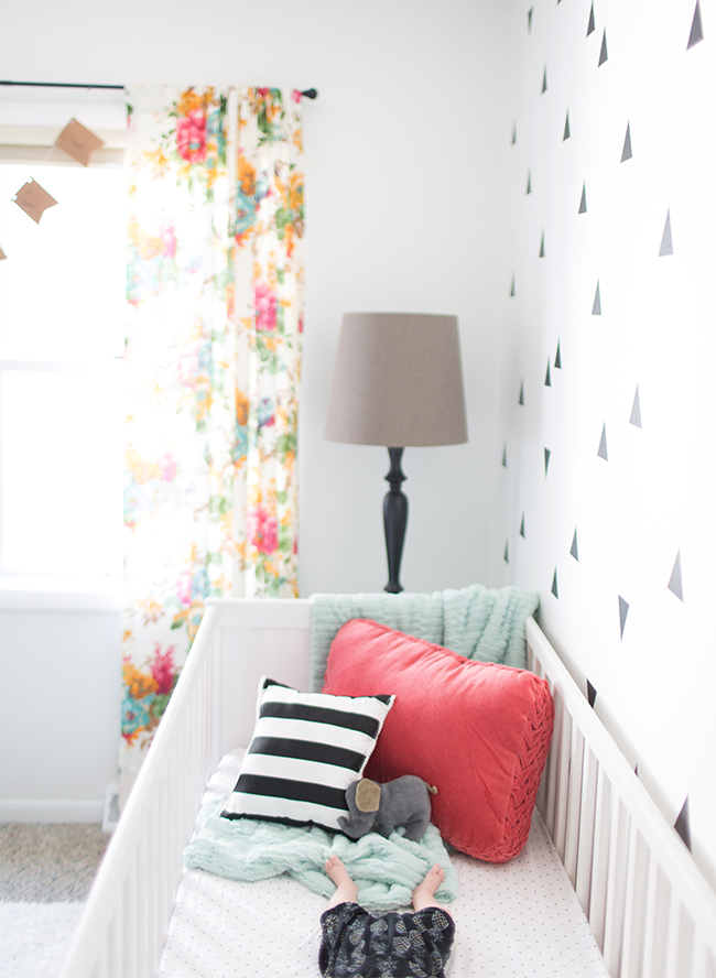 Black White Amp Coral Baby Girl Nursery Inspired By This