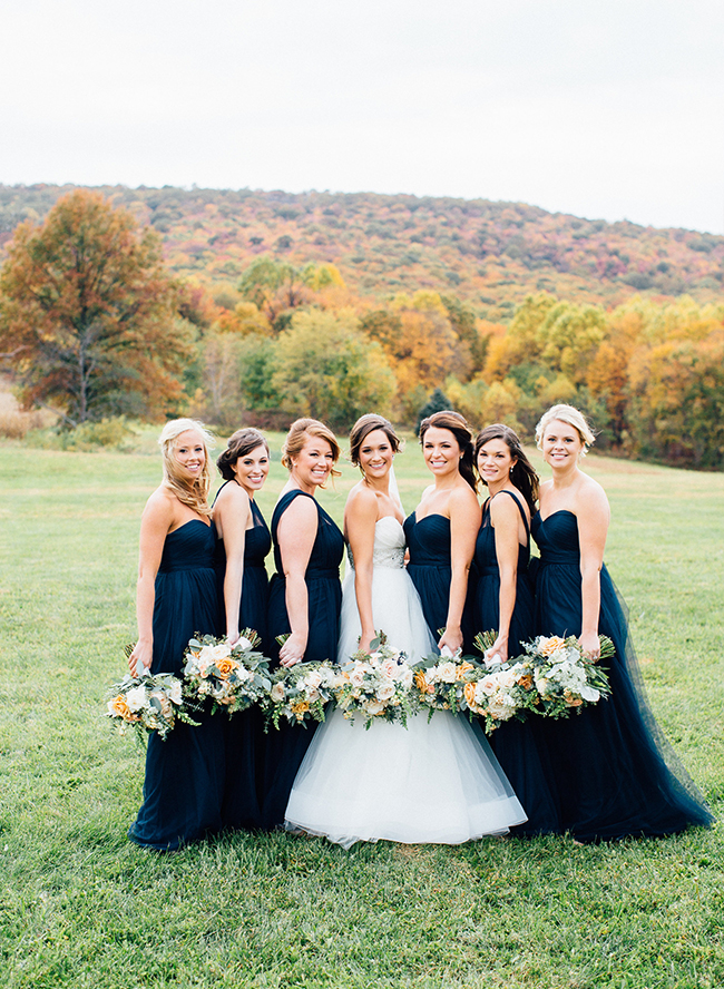 navy bridal party classic navy gold wedding in maryland inspired by this