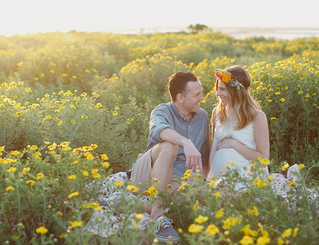 Flower Fields Maternity Photos - Inspired by This