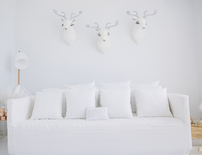 Bright White Modern Nursery - Inspired by This