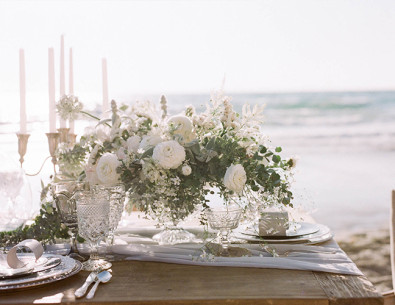 Green & White Seaside Wedding Inspiration - Inspired by This